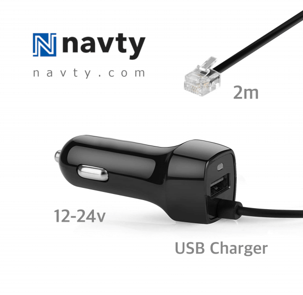 NAVTY straight power cord + USB